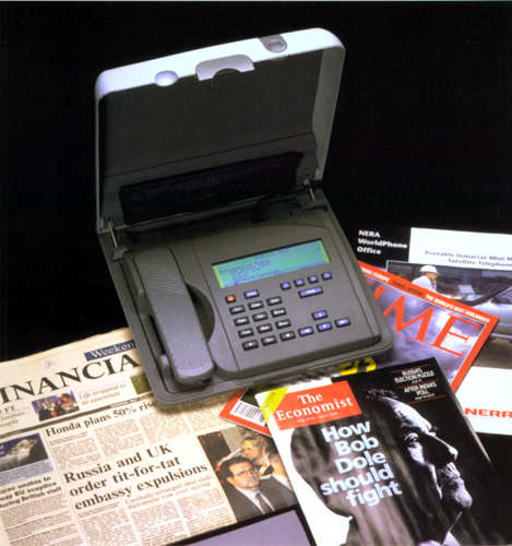 Portable mini satelite telephone